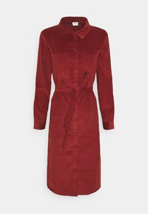 JDYCOLLINS DRESS - Shirt dress - russet brown