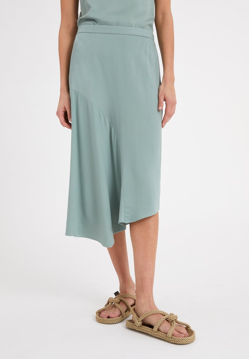 ARMEDANGELS - AASY - A-line skirt - eucalyptus green