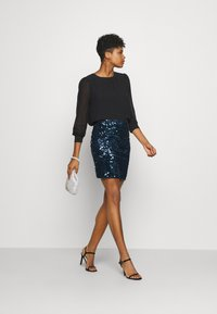 Molly Bracken - LADIES SKIRT - Minijupe - navy blue - 1