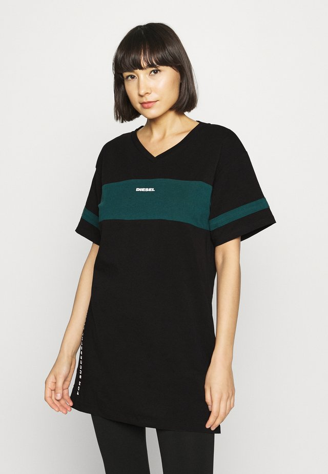 UFTEE-CHEERLY T-SHIRT - Negligé - black/green