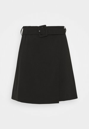 LEAF SKIRT - Mini skirt - black