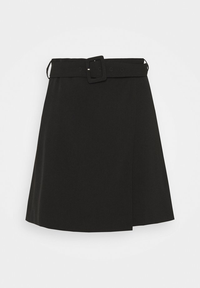 LEAF SKIRT - Minigonna - black