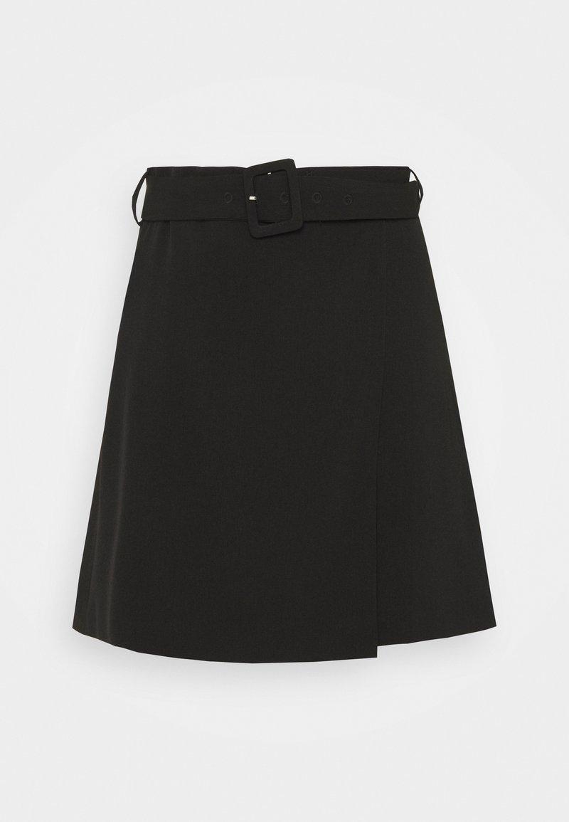 Fashion Union - LEAF SKIRT - Miniskjørt - black