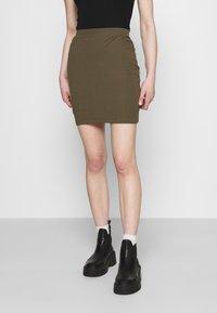 Even&Odd - 2 PACK - Mini skirt - black/khaki - 3