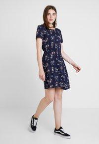 Vero Moda - AUTUMN AMAZE SHORT DRESS - Day dress - night sky - 1