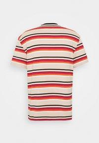 Tommy Jeans - DYE STRIPE TEE - Print T-shirt - smooth stone/multi - 1