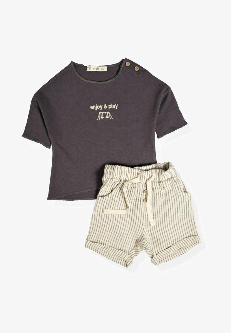 Cigit - SET - Shorts - anthracite