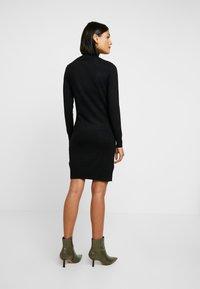 Saint Tropez - DRESS HIGH NECK - Abito in maglia - black - 3