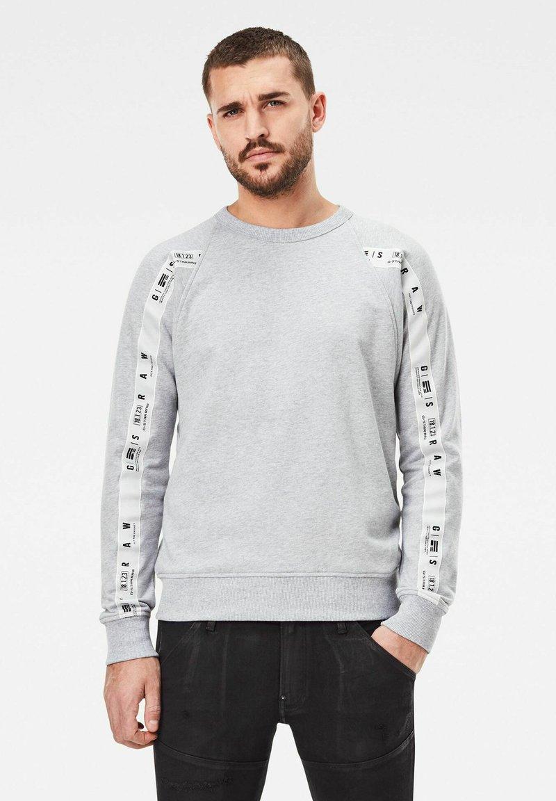 G-Star - RAGLAN TAPING - Sweatshirt - grey heather