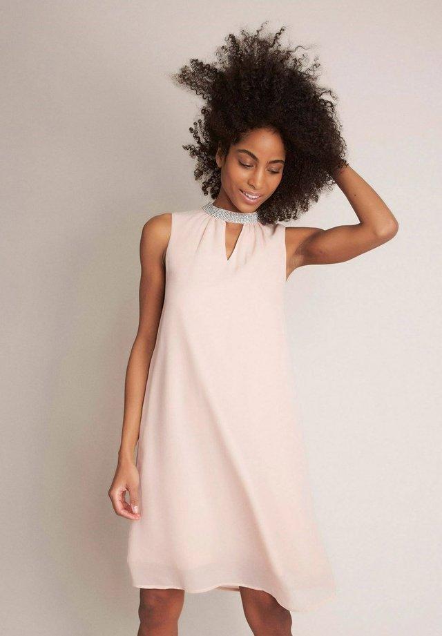 Korte jurk - rose pâle