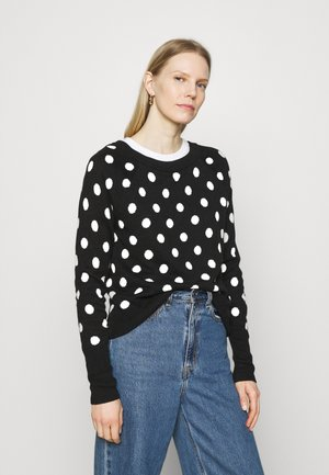 CRAZY DOT NEW COZY - Jumper - black/white