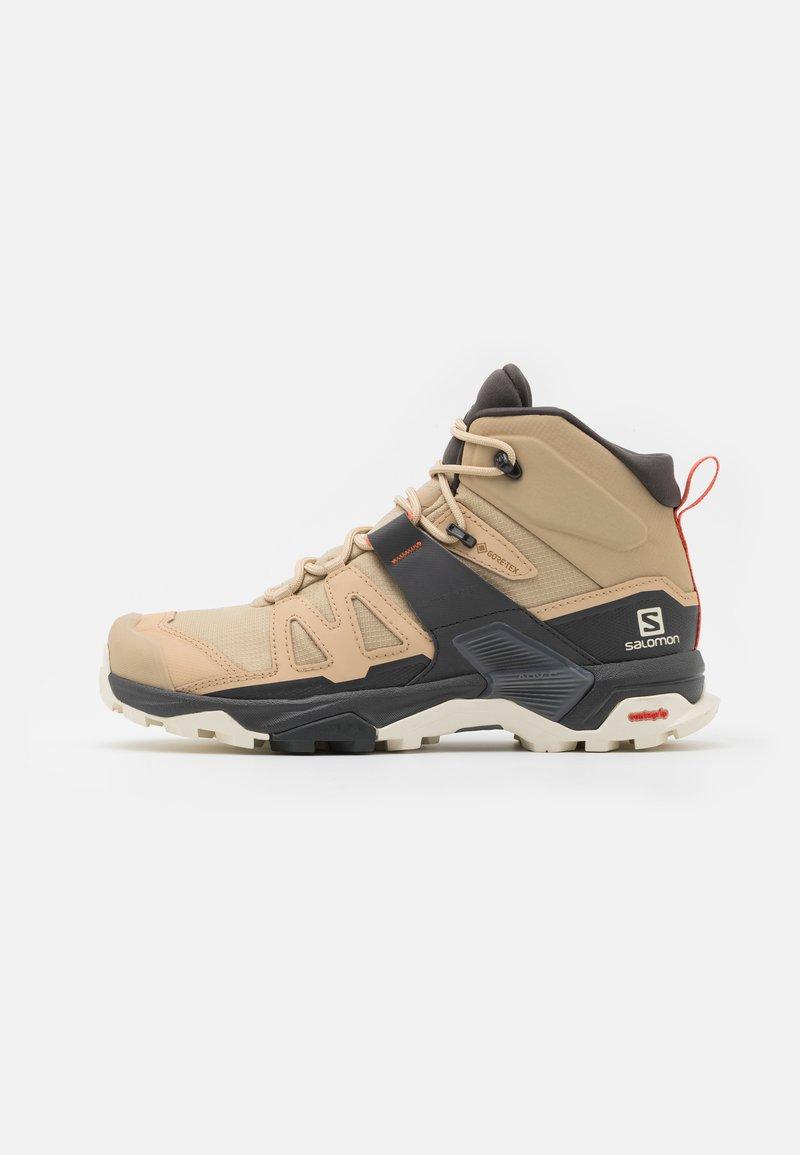Salomon - X ULTRA 4 MID GTX - Hiking shoes - safari/magnet/persimon