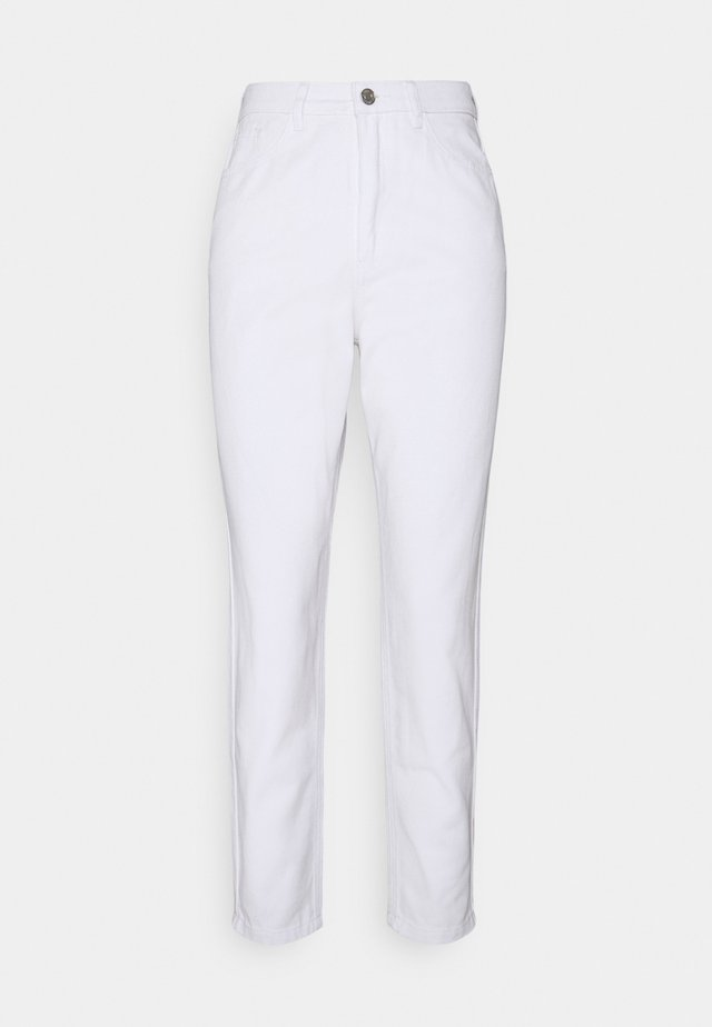 RIOT HIGH WAISTED PLAIN  - Straight leg jeans - white