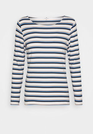 STRIPED CREW NECK - Long sleeved top - offwhite/multicolor