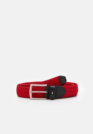 DENTON  - Braided belt - red