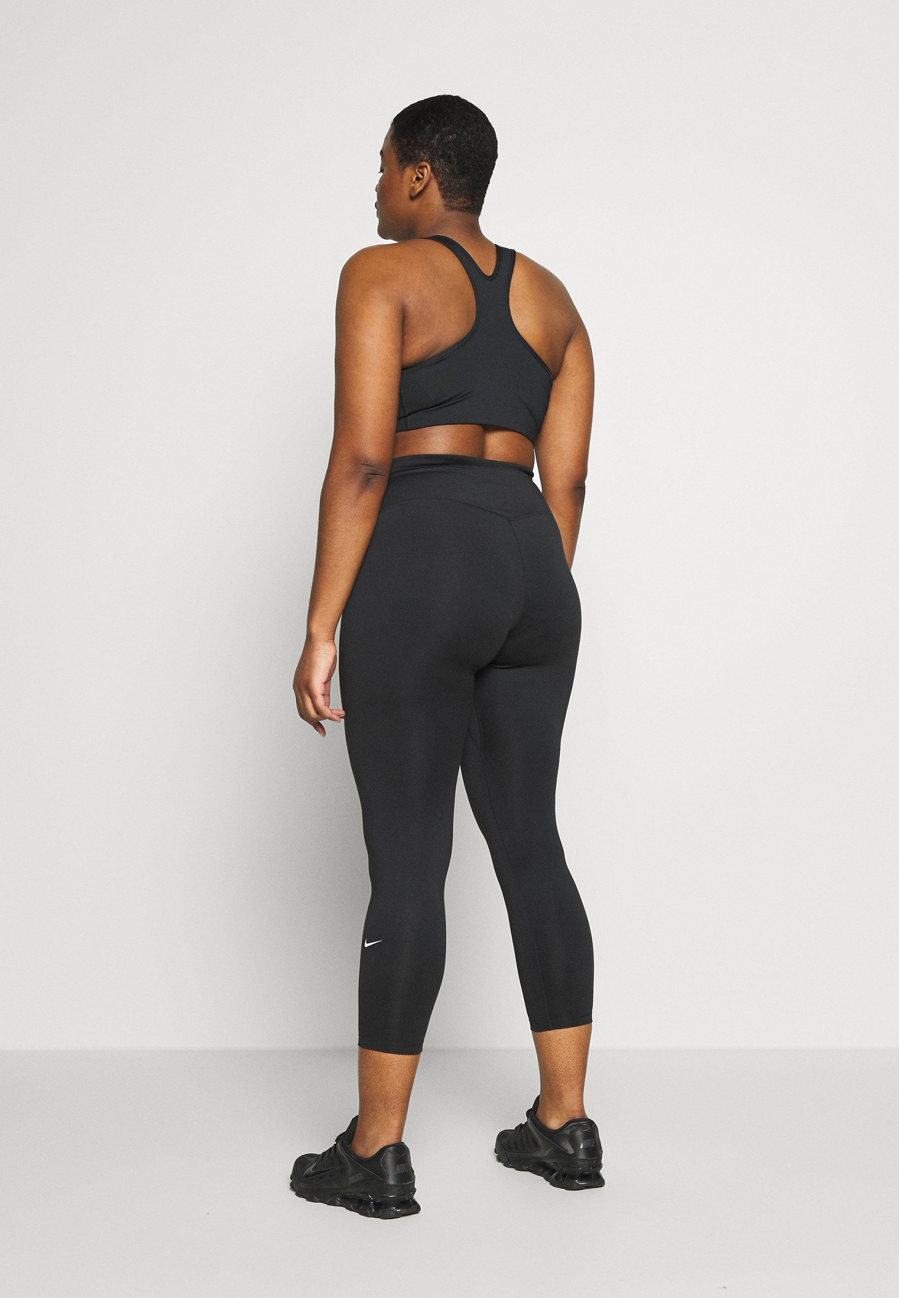 Nike Performance ONE PLUS  - Leggings - black/white TMMv2