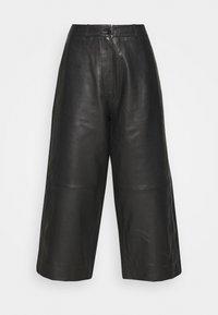 Holzweiler - CELICE - Kožené kalhoty - black - 3