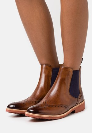 SELINA - Classic ankle boots - wood/purple