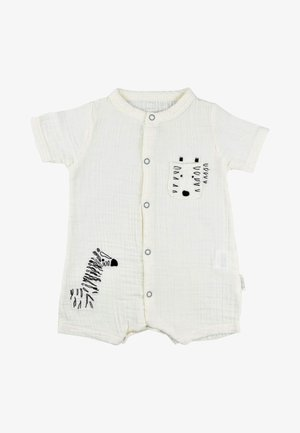 ZEBRA EMBROIDERED MUSLIN ROMPER  - Overal - off-white