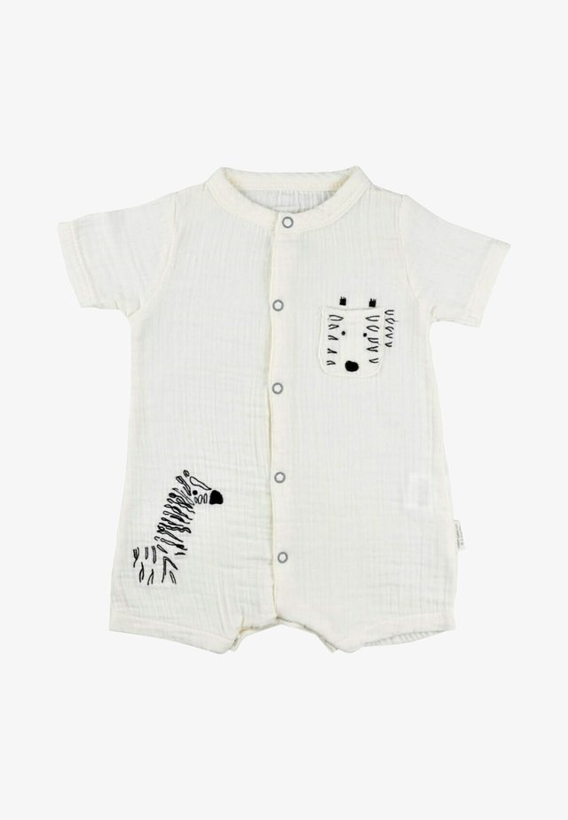 ZEBRA EMBROIDERED MUSLIN ROMPER  - Jumpsuit - off-white