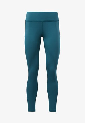 WORKOUT READY LOGO TIGHTS - Legginsy - heritage teal