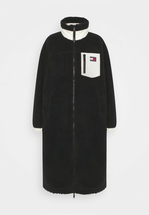 REVERSIBLE SHERPA COAT - Mantel - black/ecru