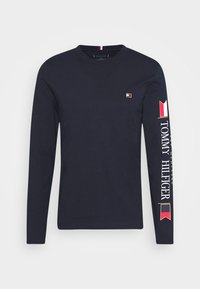 Tommy Hilfiger - MIRRORED FLAGS LONG SLEEVE  - Longsleeve - blue - 3