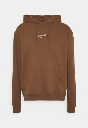 UNISEX SMALL SIGNATURE HOODY - Sweatshirt - brown