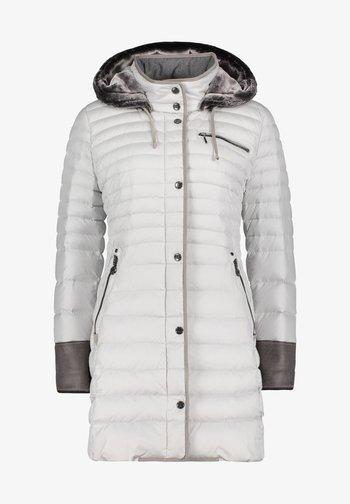 MIT KAPUZE - Down coat - hellgrau