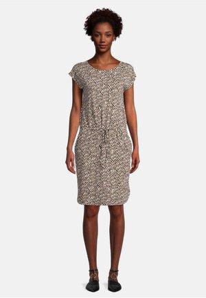 OHNE ARM - Jersey dress - white/camel
