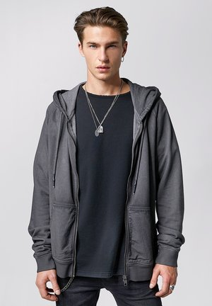 RUVEN - Zip-up hoodie - vintage stone grey