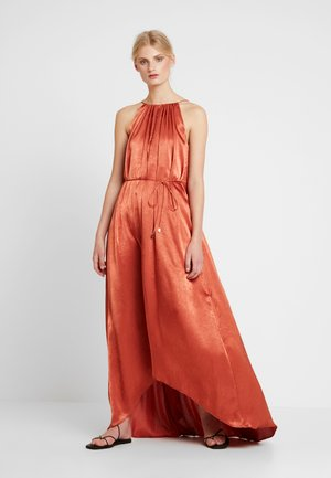 LONG RUFFLED DRESS - Maxiklänning - reds