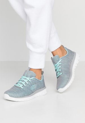 GRACEFUL - Sneakers laag - gray/mint