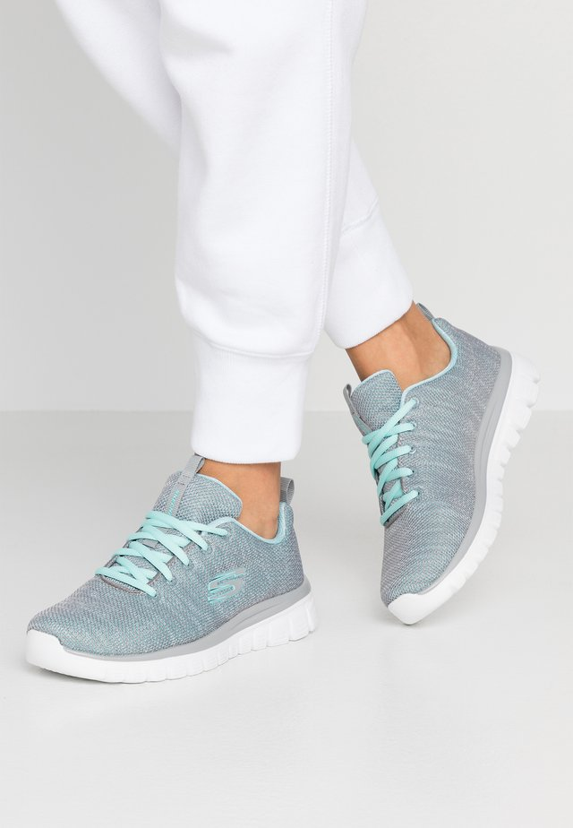 GRACEFUL - Trainers - gray/mint