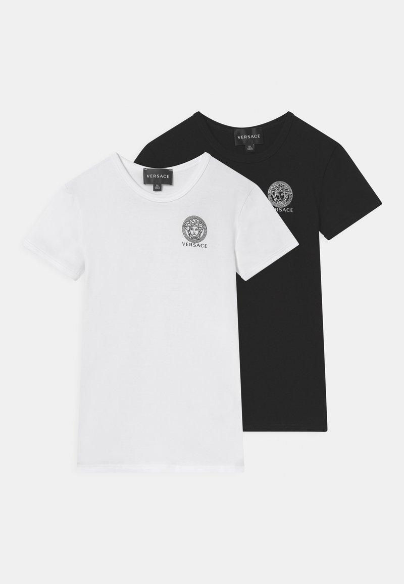 Versace - ESSENTIAL 2 PACK - Print T-shirt - bianco/nero