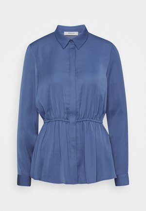RIVA PEPLUM - Button-down blouse - gray blue