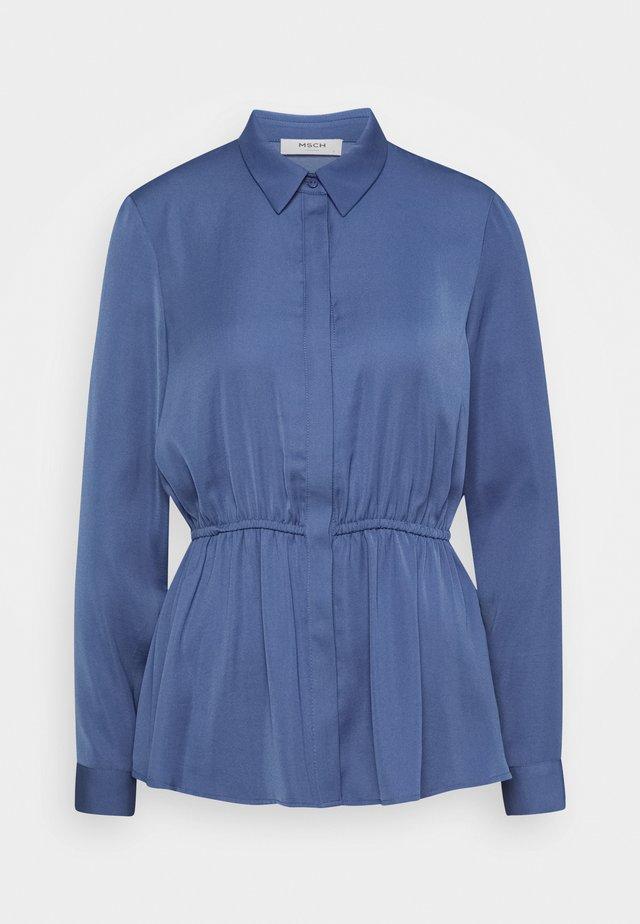 RIVA PEPLUM - Skjortebluser - gray blue