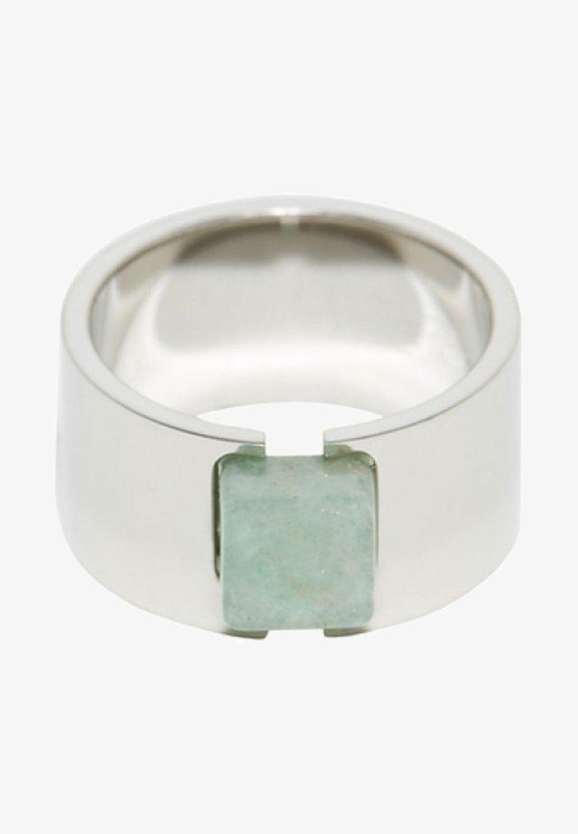 MIT STEIN IN JADE-OPTIK - Ring - silver-coloured/green