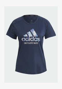 adidas Performance - RUN FOR THE OCEANS GRAPHIC - T-shirts med print - blue - 3