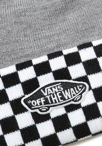 Vans - WM BREAKIN CURFEW BEANIE - Beanie - heather grey/checkerboard - 1