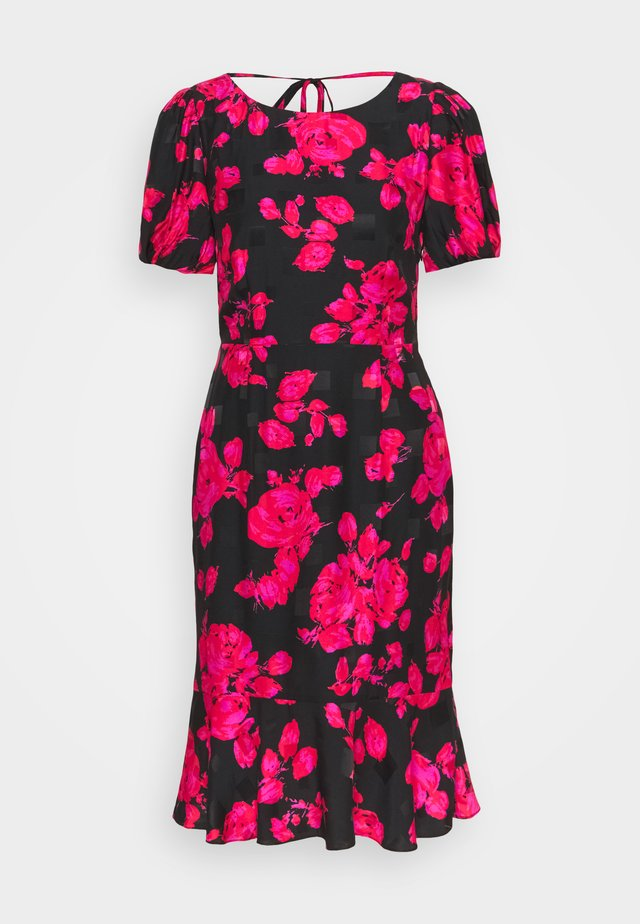 KATIA ROSE ON DRESS - Korte jurk - black/red