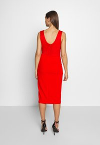 WAL G. - LAYERED MIDI DRESS - Cocktailkjole - red - 2
