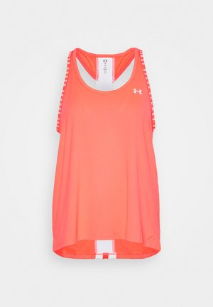 KNOCKOUT TANK - Sports shirt - neon pink/white