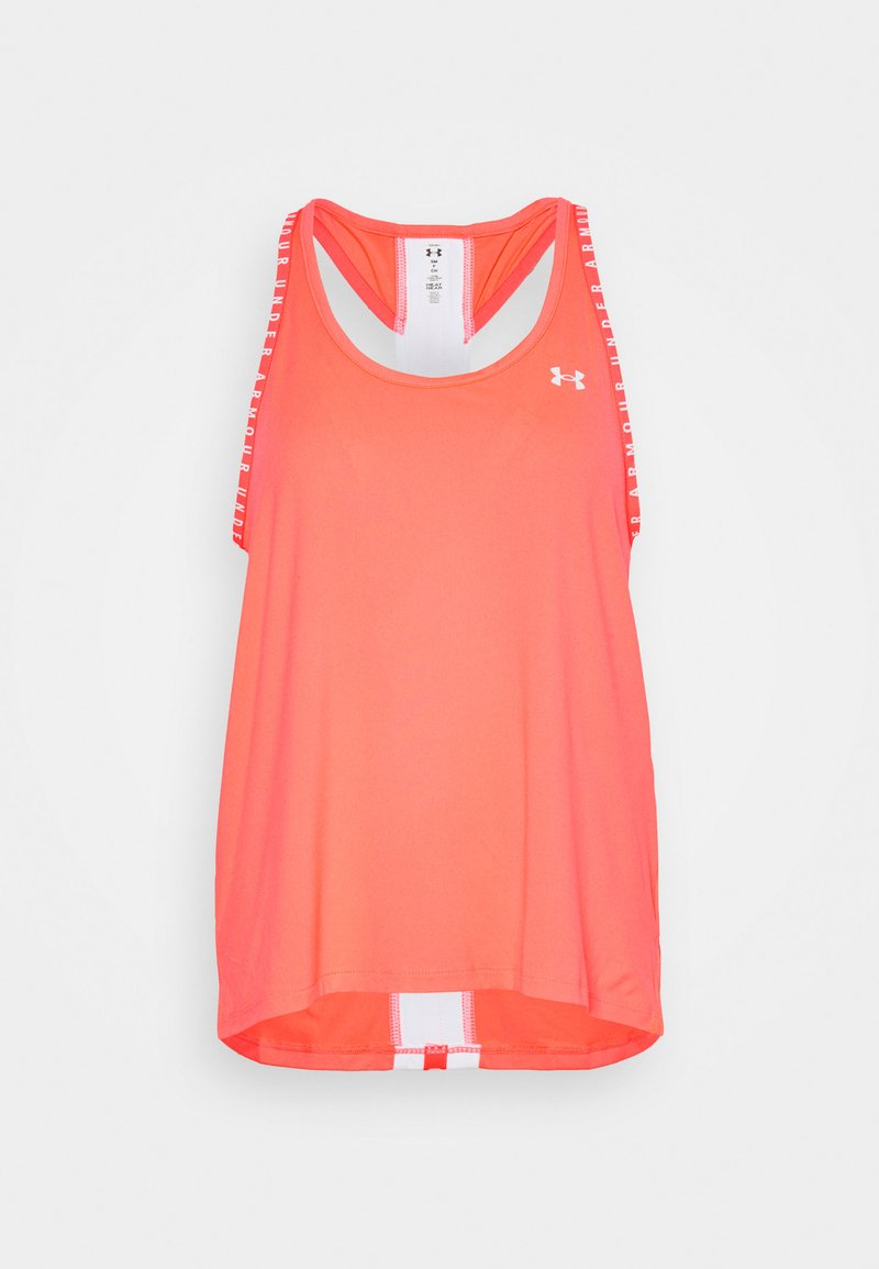 Under Armour - KNOCKOUT TANK - Sports shirt - neon pink/white