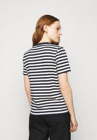 Tory Burch - STRIPED LOGO  - Camiseta estampada - navy - 2