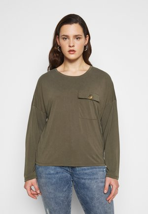 NMDENNY POCKET CURVE - Long sleeved top - olive night