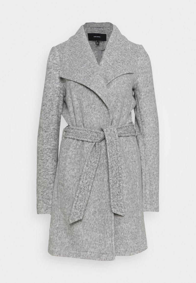 Vero Moda Tall - VMBRUSHEDDORA JACKET - Classic coat - light grey melange