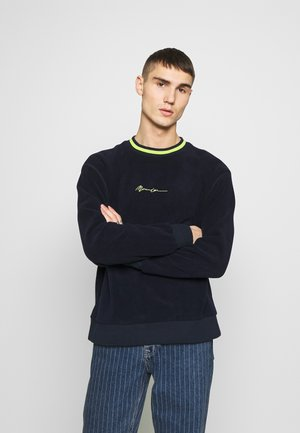 POLAR WITH NECK STRIPE - Fleece jumper - navy