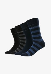 TOM TAILOR - SOCKS STRIPES 4 PACK - Strumpor - blau/schwarz - 1