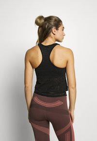 HIIT - BURNOUT CROPPED VEST - Toppe - black - 2